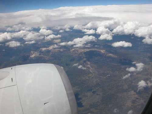 Flying Airborne Jet Airplane Flight