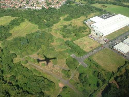 Flying Fly Aeroplane Shadow Silhouette Fields