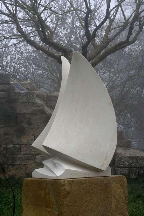 Fog Sculpture Artwork Italy Sicily Enna