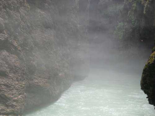 Fog Epic Gorge Water Nature