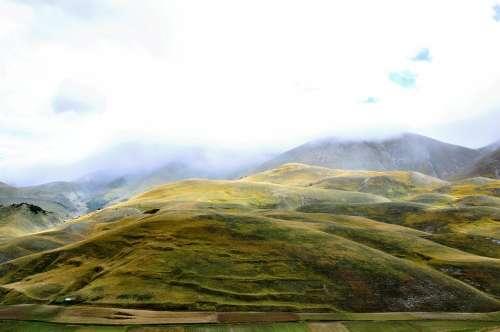 Fog Campaign Hills Colors Depth Italy Amazement