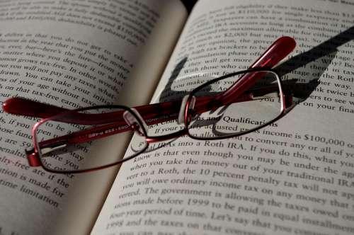 Folded Glasses Book Read Finish Close End Late