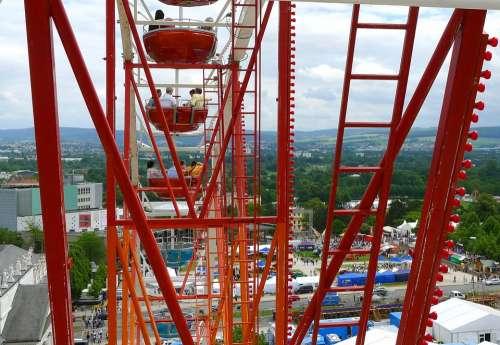 Folk Festival Ferris Wheel Carousel Hessian Kassel