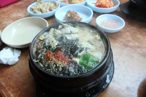 Food Bean Sprouts Soup With Rice Songdo