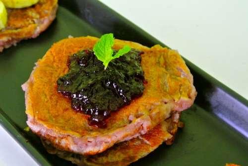 Food Pancake Breakfast Blueberry Pancake Dessert