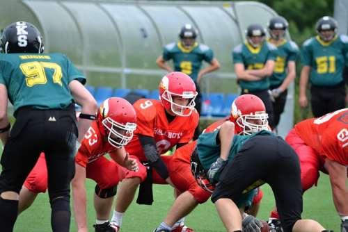 Football American Football Helmet Red Jerseys