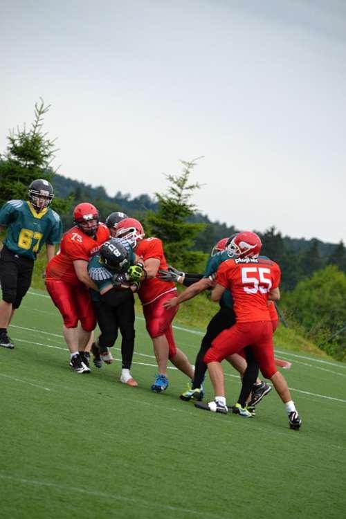 Football American Football Cooperation Toil