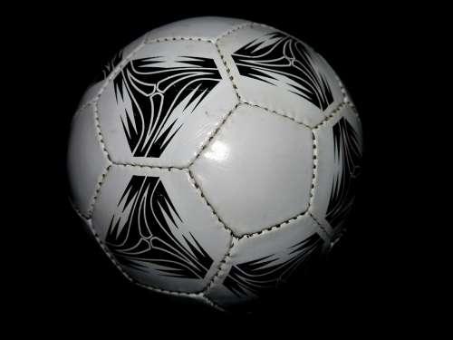 Football Round Leather Black White Ball