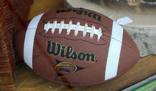 Football Leather Brown Ball American Equipment