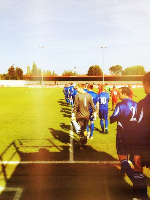 Football Soccer Pitch Players Sport Ball Goal