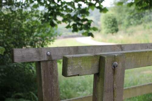 Footbridge Bridge Yorkshire Countryside Footpath
