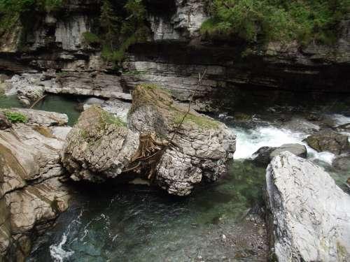 Force Of Nature Breitachklamm Rock Alpine Mountains