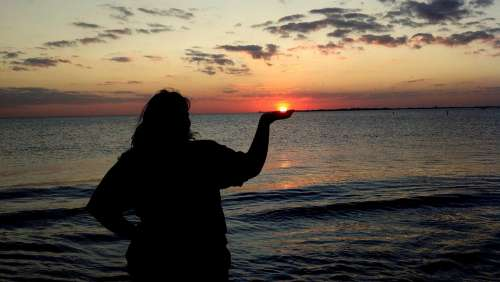 Fort Myers Beach Florida Sunset Sea Ocean Water