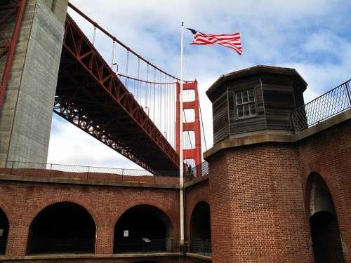 Fort Point San Francisco Historic Landmark Bridge