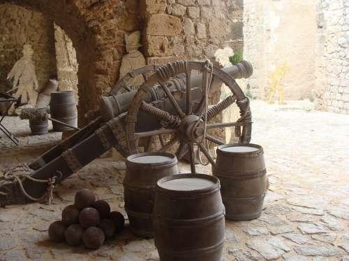 Fortress Yellow Tunnel Cannon Gun Castle