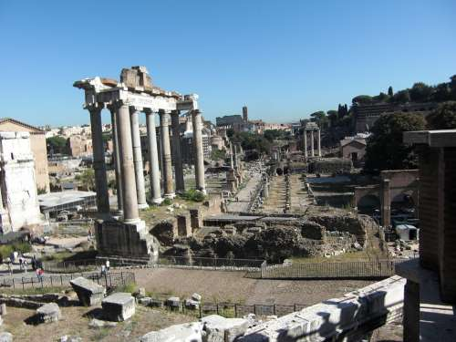 Forum Rome Italy Roman Foro Romano Romans Old