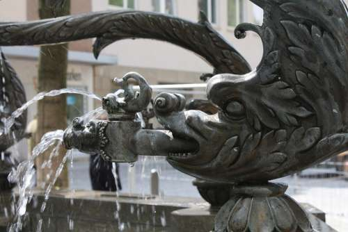 Fountain Fish Water Fountain Jewelry Sculpture Ulm