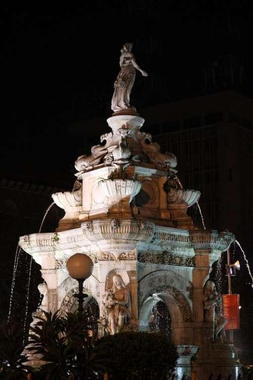 Fountain Mumbai India Bombay Architecture Monument