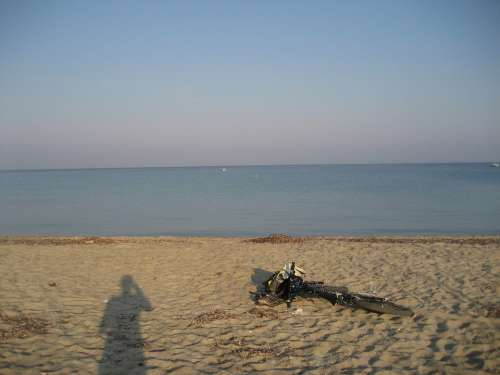 Fourka Greece Mountain Bike Bike Sea Water Beach