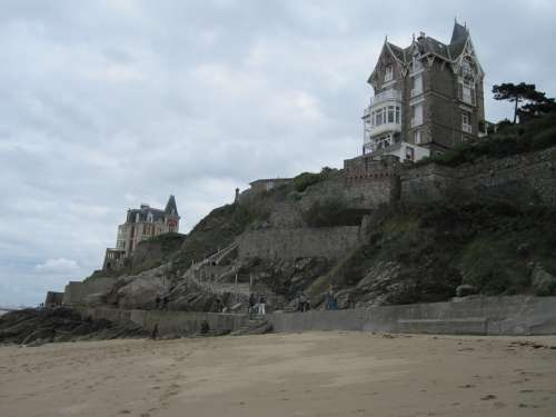 France Coast Rocky Coast Beach Sea Normandy