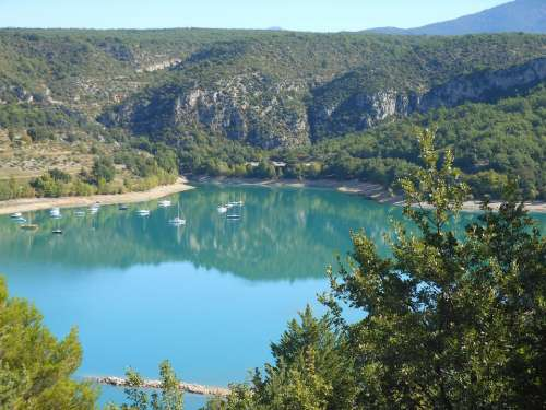 France Verdon Mountains Landscape Scenic Water