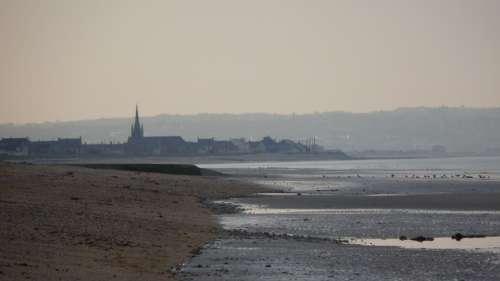 France Normandy Beach Abendstimmung Coast Horizon