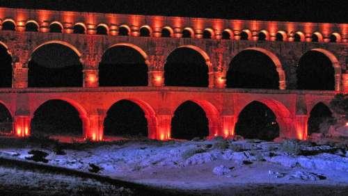 France Pont Du Gard Bridge Aqaedukt