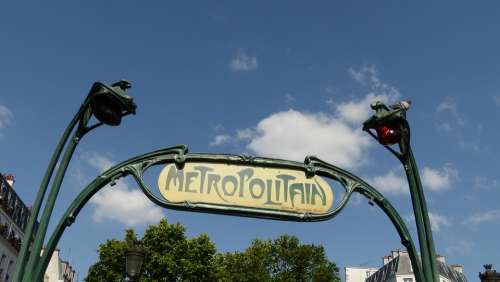France Paris Metro Metro Entrance Shield