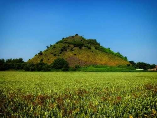 France Landscape Scenic Hill Landfill Crop