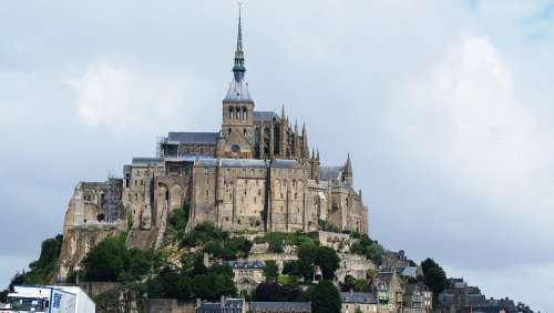 France Mont Saint Michel Island Monastery Gothic