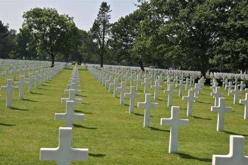 France Cemetery Normandy American Cross