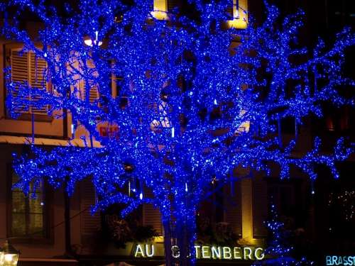 France City Lights Lighting Christmas Holiday