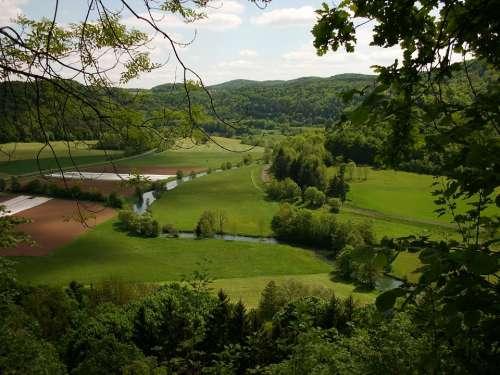 Franconian Switzerland Summer River Landscape