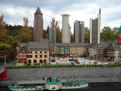 Frankfurt Mini World Building Skyscraper From Lego