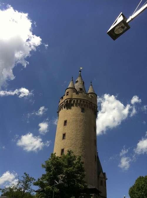Frankfurt Eschenheimer Goal Clouds Sky