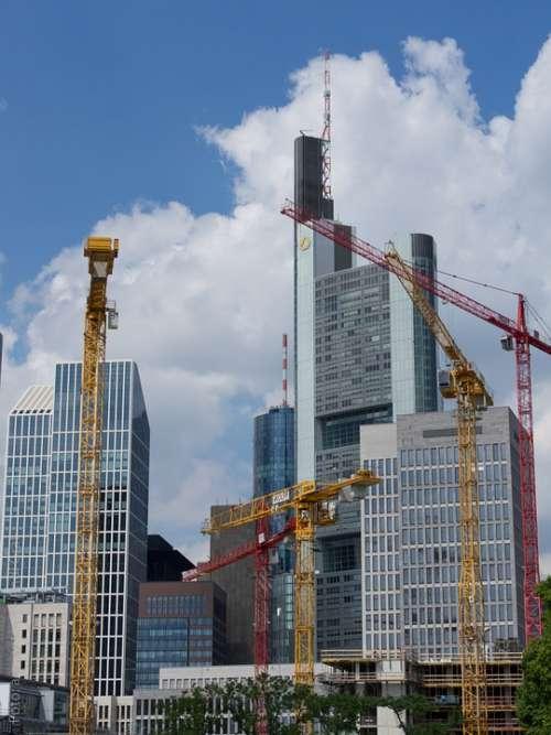 Frankfurt Skyscraper Construction Skyline Building