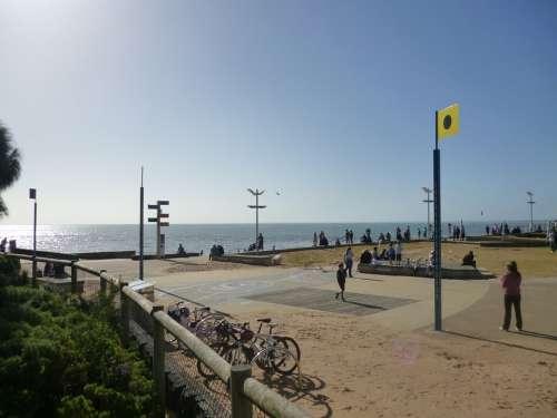 Frankston Beach Melbourne Australia Spring Pier