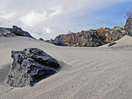 Fraser River Shoreline Dunes Rocks Landscape