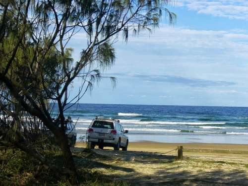Fraser Island Beach Landscape Holiday Ocean
