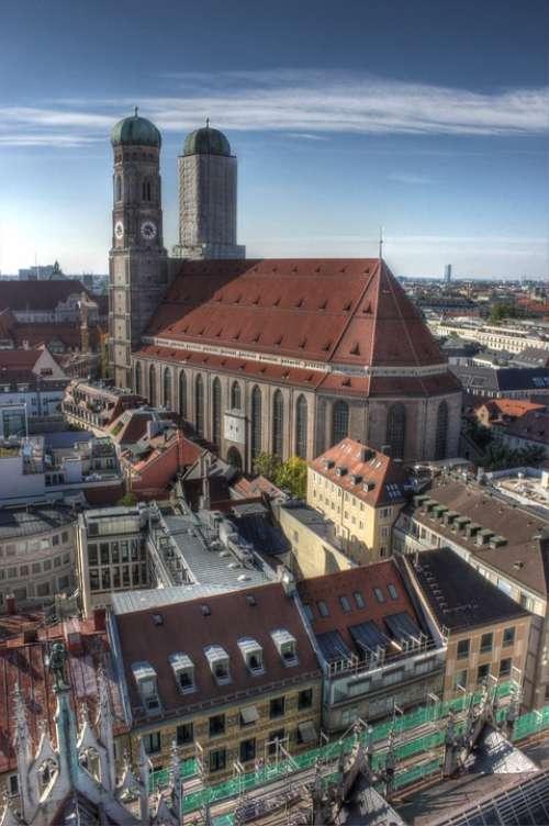 Frauenkirche Munich Germany City Metropole Bavaria