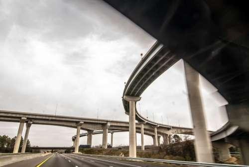 Freeway View Auto Automobile Bridge Building