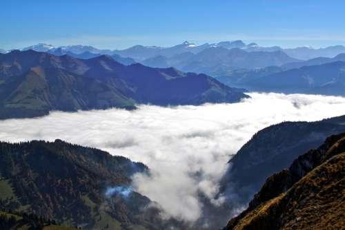 Freiburger Switzerland Fog Mysterious Landscape