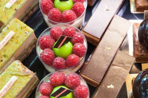 French Pastries France Fruit Raspberries Chocolate