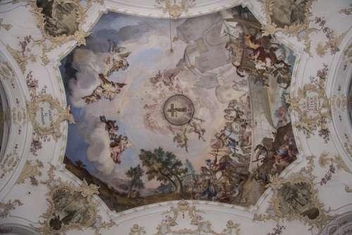 Fresco Baroque Church Building Christianity