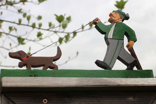 Fretsaw Figure Jigsaw Figure Holzfigur Dog Hunter