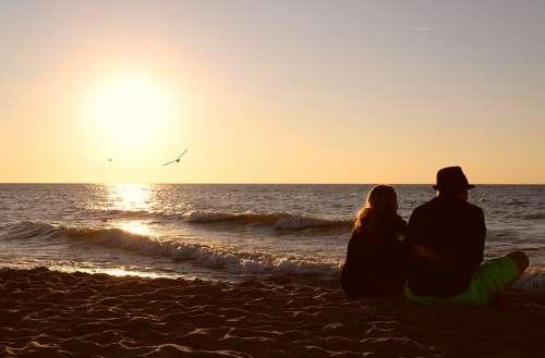Friendship Love Para Sea Sunset Romanticism