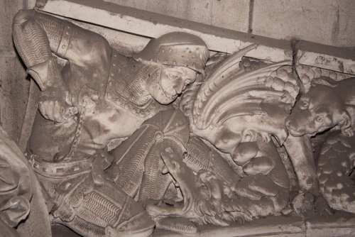 Frieze Saint Michael St Georg Knight Ritterruestung