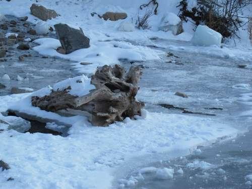 Frozen Utah Bridal Veil Falls Creek Stream Winter