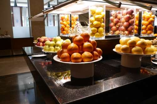 Fruit Apple Orange Buffet Healthy Eat Delicious