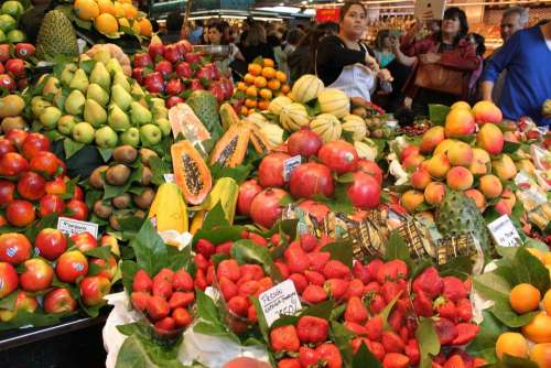 Fruits Market Colorful